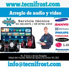 Servicio técnico y reparación de audio y video en Quito.