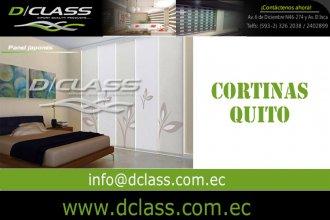 Importación y venta de cortinas en la ciudad de Quito.