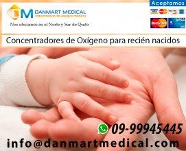 Concentradores de oxigeno para recien nacidos en Quito