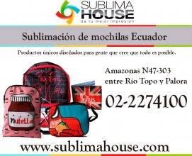 Sublimación de mochilas en Ecuador