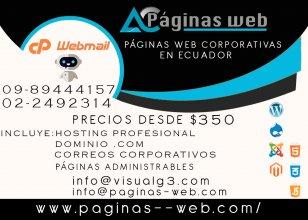 Paginas web corporativas en ecuador